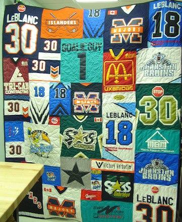 Hockey Jersey Quilts : jersey quilt - Adamdwight.com
