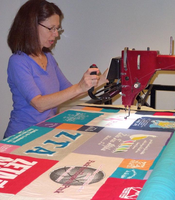 Skilled T-shirt quilt maker