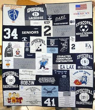 Field Hockey T-shirt quilt