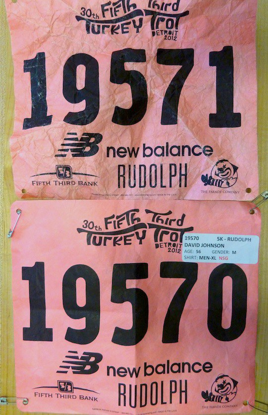 race bib numberscan be used in a T-shirt quilt