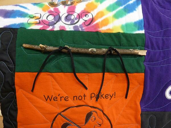 Yes, a stick can be used in a quilt or T-shirt quilt.
