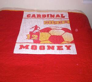 banner on back of t shirt quilt