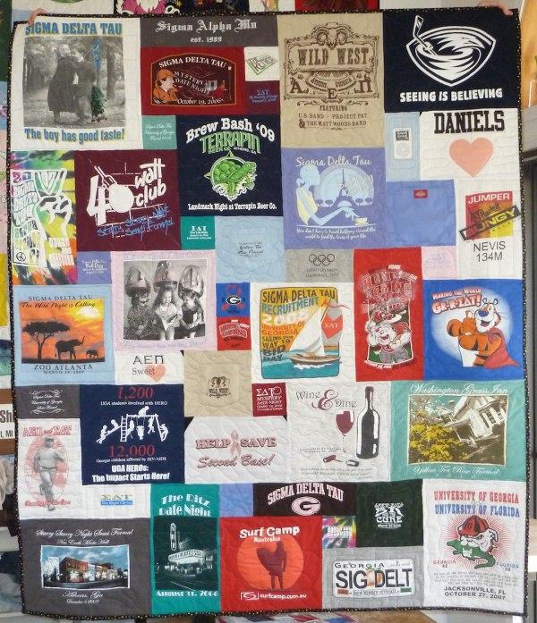 a fun T-shirt quilt