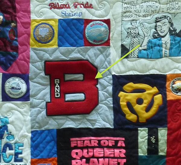 Varsity Letters can be used in a quilt or T-shirt quilt.
