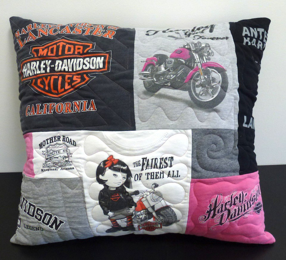 Harley Davidson T-shirt pillow