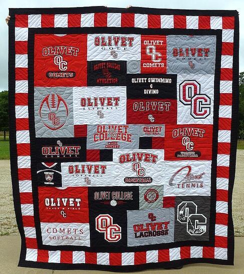 Olivet college T-shirt quilt