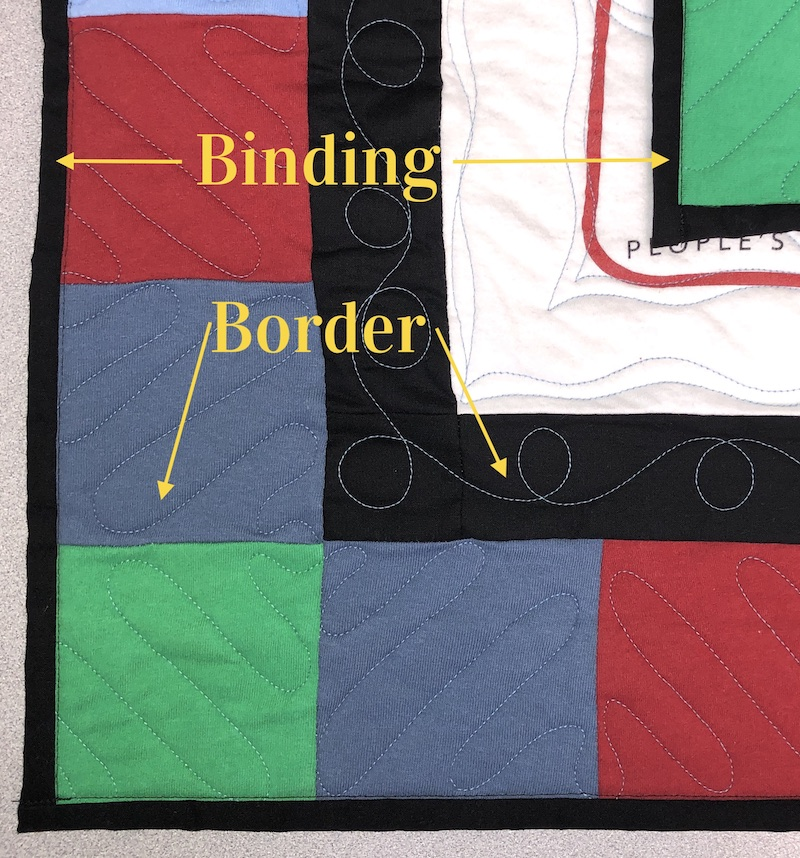 binding and border on a quilt