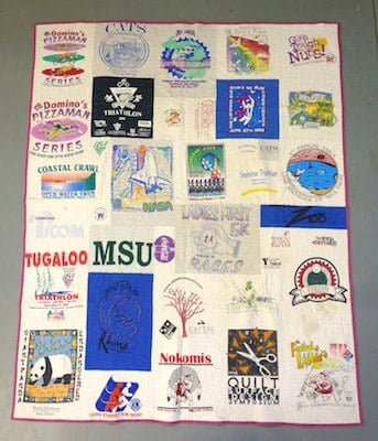 An early Too Cool T-shirt Quilt