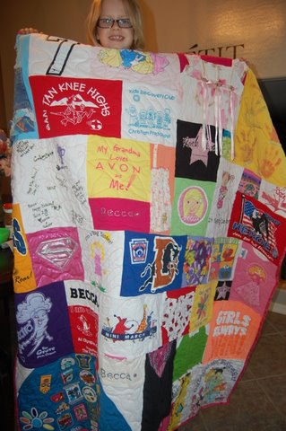 Birthday T-shirt Quilt