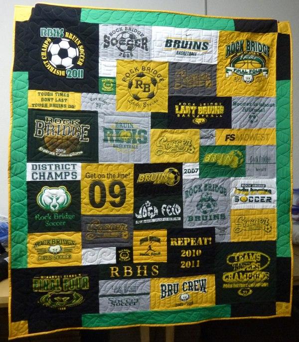 High School Soccer T-shirt Quilt
