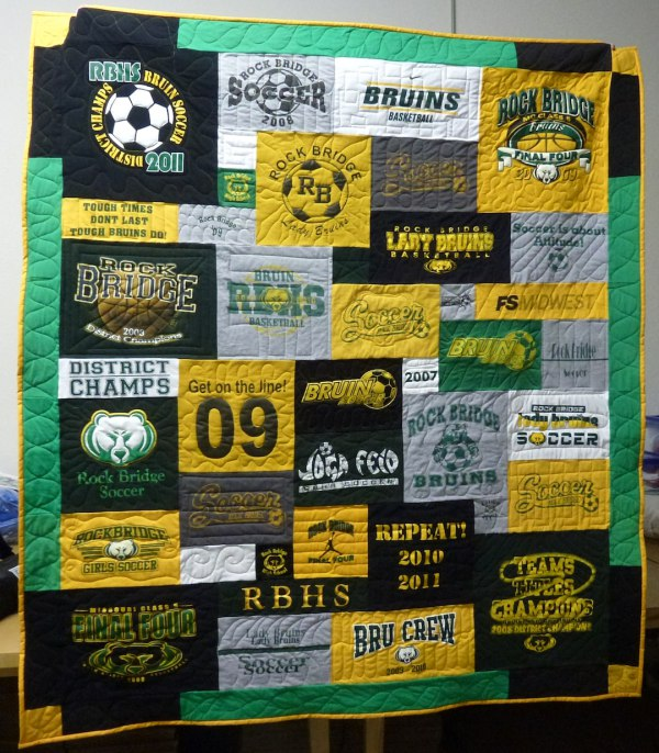 High School Soccer T-shirt Quilt