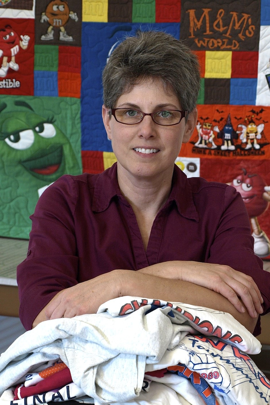 Andrea Funk, founder of Too Cool T-shirt Quilts