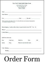 Pillow order form