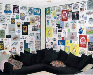 Two Hanging T-shirt Quilts