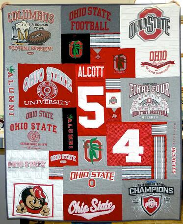 Ohio State Theme T-shirt quilt
