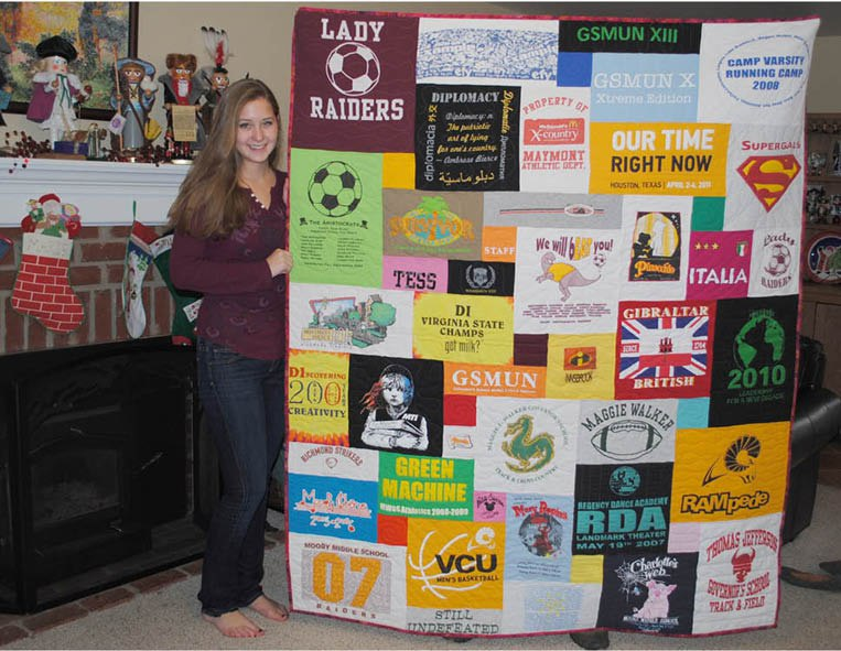 Christmas gift T-shirt quilt