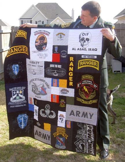 military retirement quilt