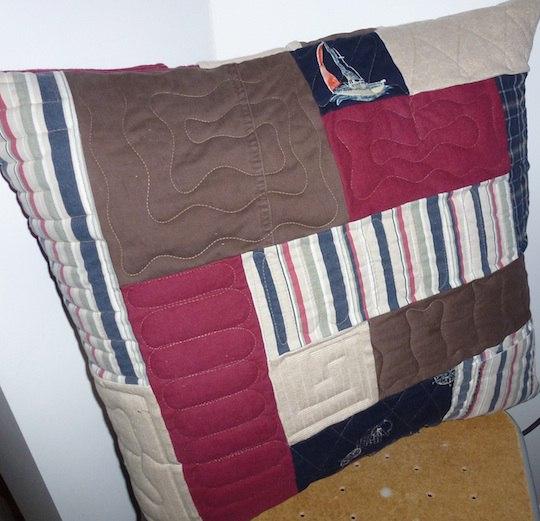Back of memorial quilt