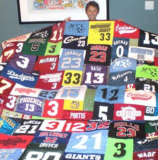 Bar Mitzvah T-shirt quilt