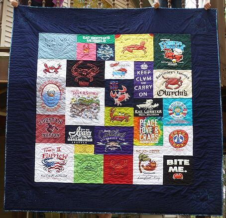 large border on a tshirt quilt