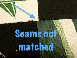 Seams does not meet