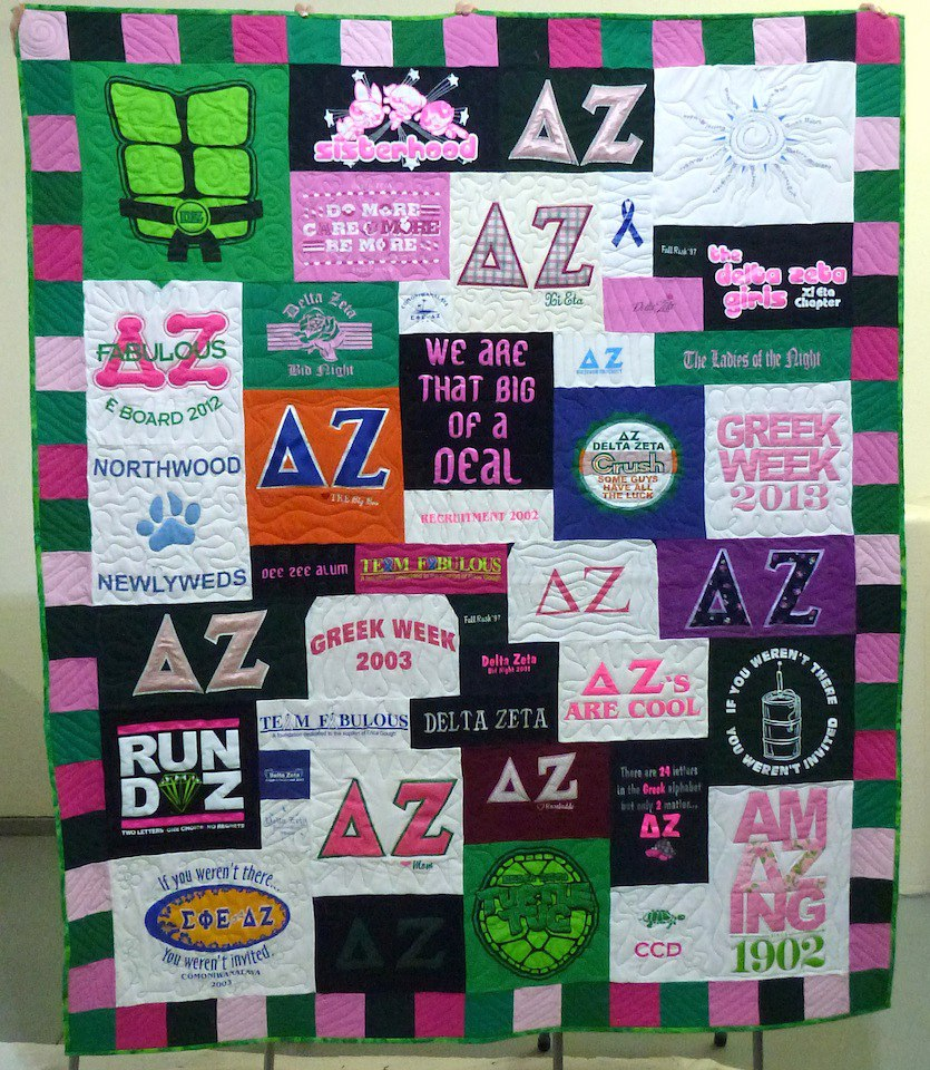 Sorority T Shirt Quilt Guide