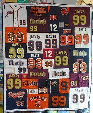 baseball jersey quilt