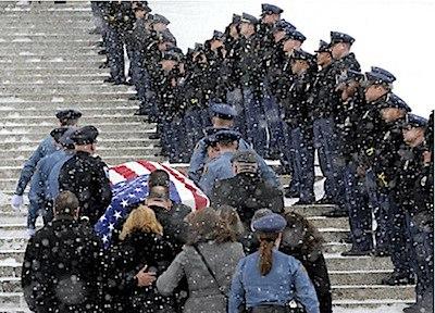 Memorial for fallen officer