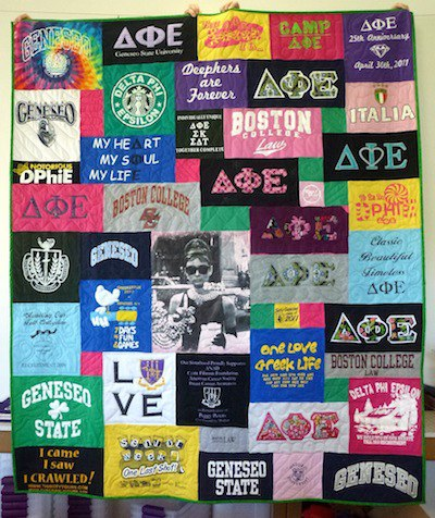 Using Greek Letter T-shirts in Your Sorority T-shirt Quilt : sorority t shirt quilt - Adamdwight.com