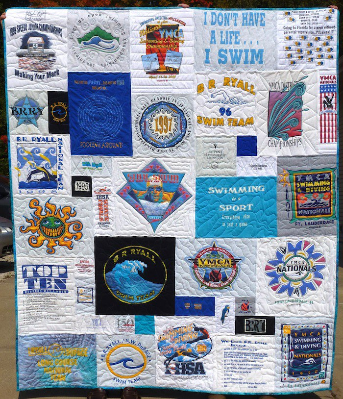 Swimmers T-shirt quilt