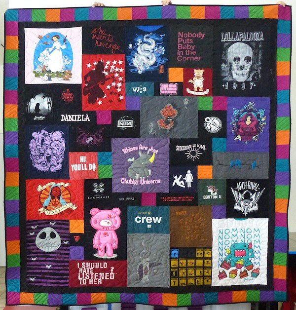 T-shirt quilt with an awesome border.