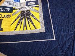 front and back of t-shirt quilt