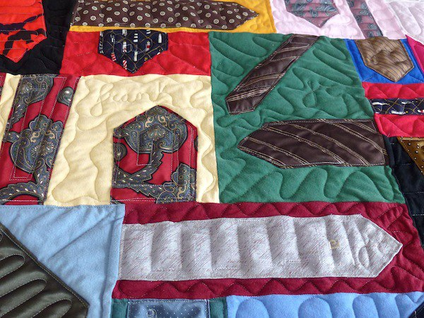 quilt made from neckties