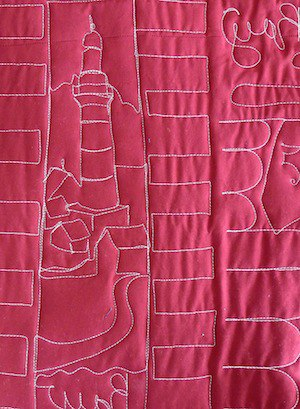 the back of a necktie quilt