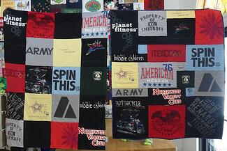 Comparing a T-shirt quilt and a blanket