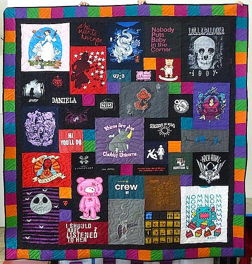 An awesome T-shirt quilt