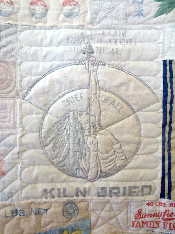 Feedbag quilt close up