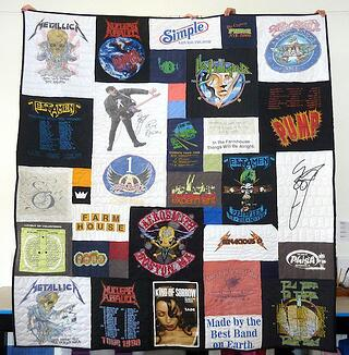 Rock band T-shirt quilt