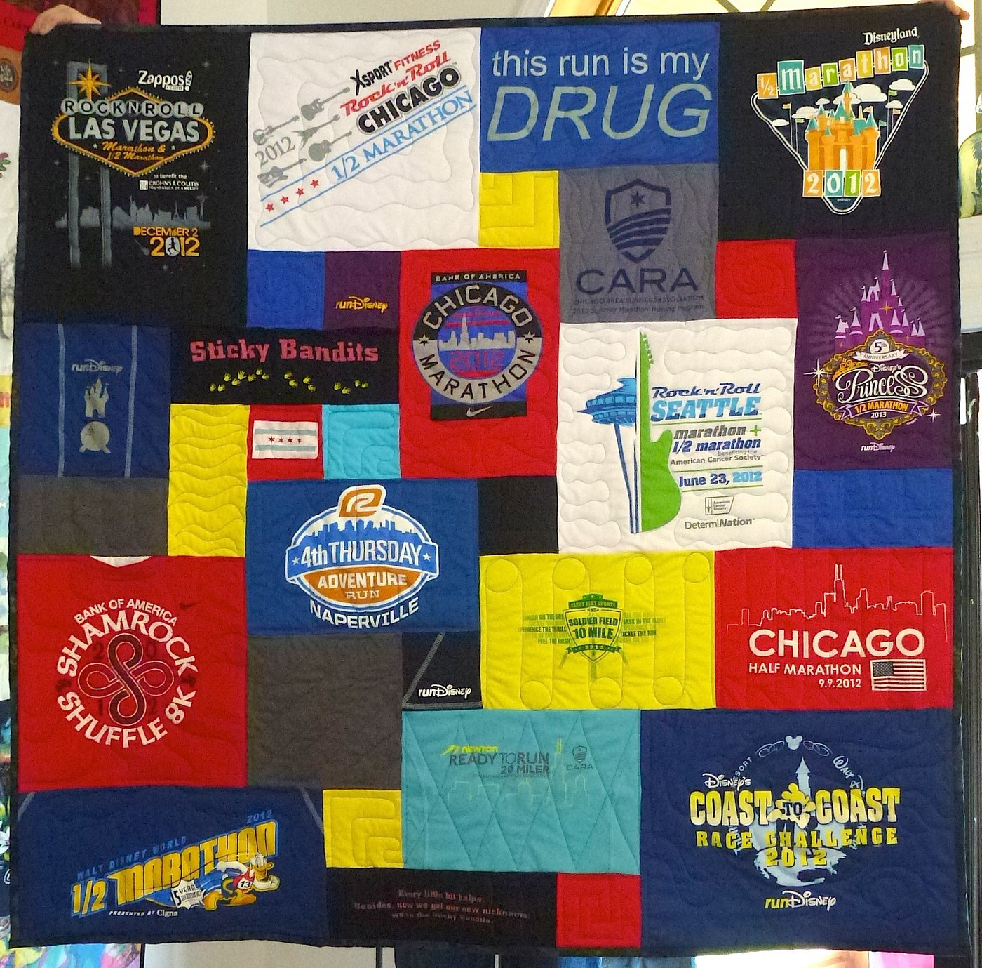 Can you use high tech fabrics used in a T-shirt quilt?