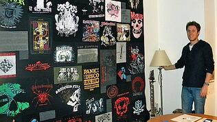 T-shirt quilt in a business office
