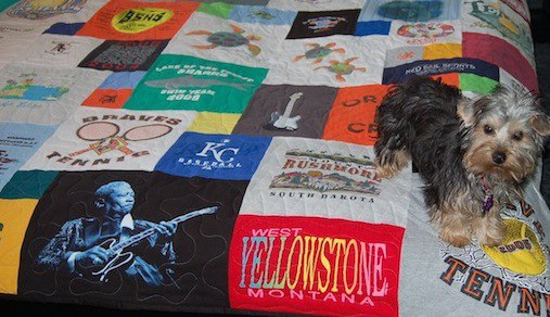 Click here to see our T-shirt quilt process