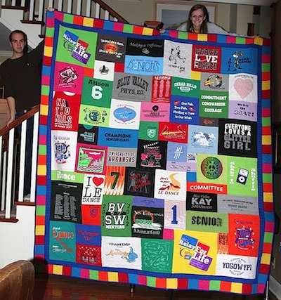 T-shirt quilt for graduation