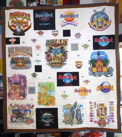 HardRock Cafe T-shirt quilt
