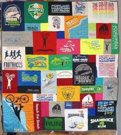 Athletic T-shirt quilt