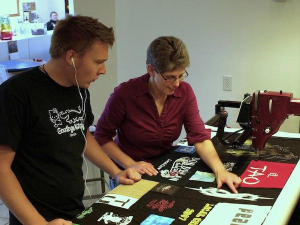 Talking About Long-arm quilt a T-shirt quilt