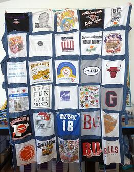 How not to make a T-shirt quilt.