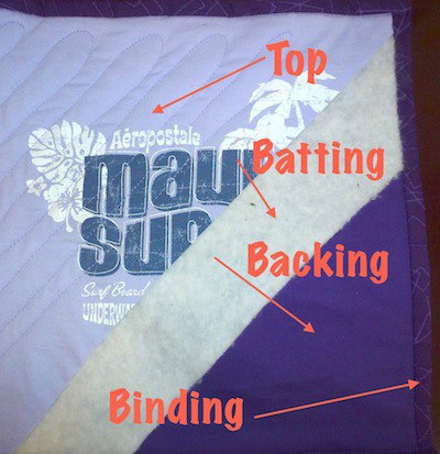 Click on me for pictures of T-shirt quilts!