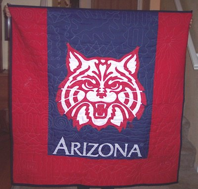 A flag can be used on the front or back of a quilt or T-shirt quilt.