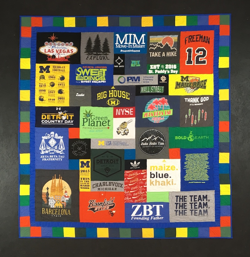 This is not a cheap T-shirt quilt!
