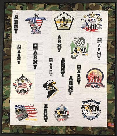 Army 10 miler T-shirt Quilt